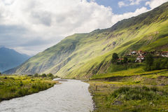 Green Caucasus mountains summer landscape Royalty Free Stock Photography