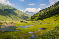 Green Caucasus mountains summer landscape Royalty Free Stock Image
