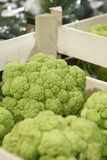Green cauliflower in a grocery Royalty Free Stock Image