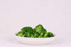 Green cauliflower in plate Stock Photography