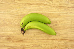 Green cavendish banana Stock Photos