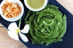 Green caviar raw food Stock Image
