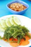 Green caviar seaweed Stock Photos