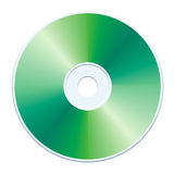 Green CD. Blank green compact disc vector Stock Photos