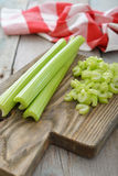Green celery stems Royalty Free Stock Photography