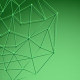 Green cell background with shadow Royalty Free Stock Photos