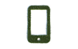 Green Cell Phone Series Symbols out of realistic Grass Royalty Free Stock Photos