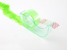 Green cellophane dispenser Royalty Free Stock Images