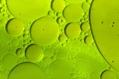 Green cells. Details of oil and paint mixture surface Stock Photo
