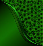 Green cells background Stock Photography