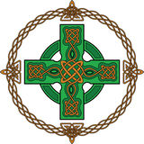 Green celtic cross Stock Image
