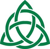 Green celtic knot. Icon Stock Photo