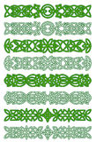 Green celtic ornament elements Stock Images
