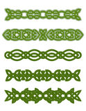Green celtic ornaments. And embellishments for design and decorate Stock Photo