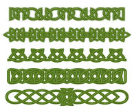 Green celtic ornaments Stock Photography