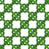 Green Celtic Rings. Green overlapping ring seamless pattern has Irish Celtic feel stock illustration