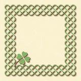 Green celtic shamrock frame Royalty Free Stock Photography