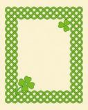 Green celtic style frame Stock Image