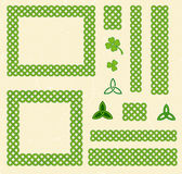 Green celtic style frames and elements Royalty Free Stock Images