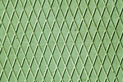 Green cement floor with rhombus pattern. Stock Images