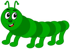 Green centipede profile Royalty Free Stock Image