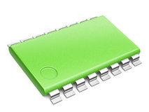 Green Central Processor unit concept. eco concept royalty free illustration