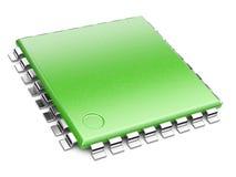 Green Central Processor unit concept. eco concept stock illustration