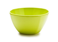 Green ceramic bowl Stock Photo