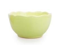 Green ceramic bowl Royalty Free Stock Photos