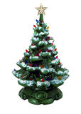 Green Ceramic Christmas Tree stock photo