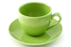 Green ceramic cup Royalty Free Stock Images