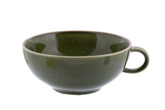 Green ceramic cup Royalty Free Stock Photography