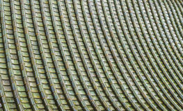 The Green ceramic roof pattern Stock Photography