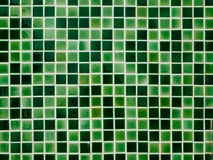 Green Ceramic tile wall Stock Photo