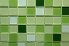 Green ceramic tile. Wall background Royalty Free Stock Photo