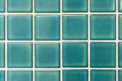 Green ceramic tiles Royalty Free Stock Image