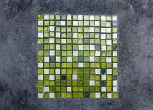 Green ceramics mosaic Royalty Free Stock Photos