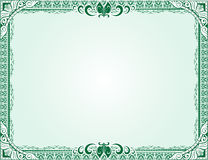 Green Certificate Diploma Template Royalty Free Stock Photo