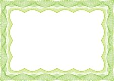 Green Certificate or diploma template frame - border stock photos