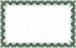 Green certificate template Royalty Free Stock Photography