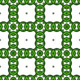 Green Chain Pattern. Green chain and loop seamless pattern on white has Celtic feel royalty free illustration