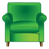Green chair. Cartoon vector illustration of a green chair Royalty Free Stock Photo