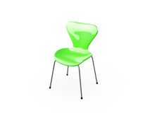 Green Chair. Green shiny chair, isolated on white background Stock Image