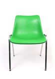 Green chair. Isolated green chair on white stock photo