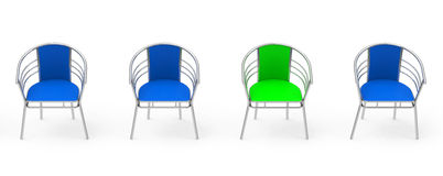 The green chair Stock Images