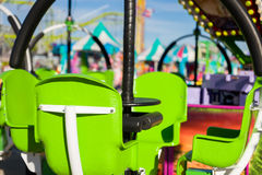 Green Chair Ride in a an Amusement Park Royalty Free Stock Photo