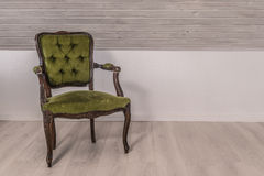 Green chair in victorian design Royalty Free Stock Photos
