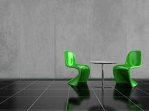 Green Chairs Stock Photos