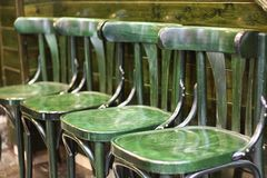 Green chairs. Stock Images