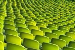 Green chairs Royalty Free Stock Images